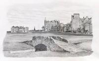 Chorley	St Andrews - The Home of Golf - Pencil Drawing - 8.5
