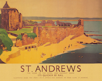 St Andrews L.N.E.R. Railway Print - BEACH - 10
